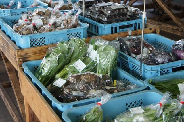在「道の駅」也買得到地產地消的新鮮蔬果