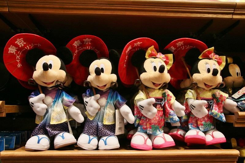 米奇美妮版本的雛人形娃娃,日本味十足