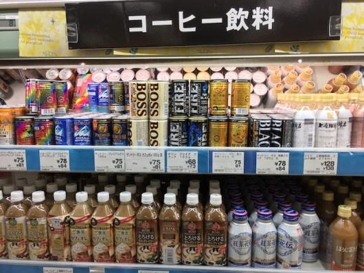 日本超市專設咖啡架