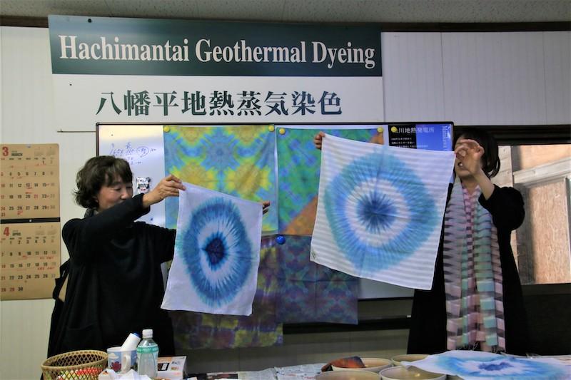 在工房夢蒸染有機會可以體驗到世界唯一一個以地熱蒸氣進行染色的工藝技術