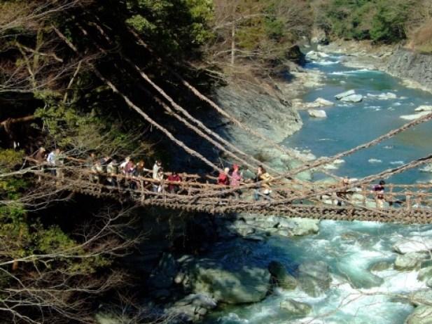 kazurabashi Japanese suspension bridge