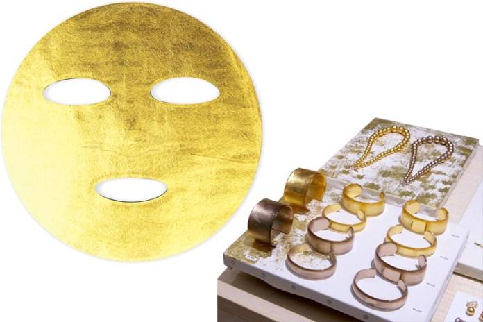 Gold Leaf Mask, 4,500 yen Acrylic bangles, starting from 5,000 yen