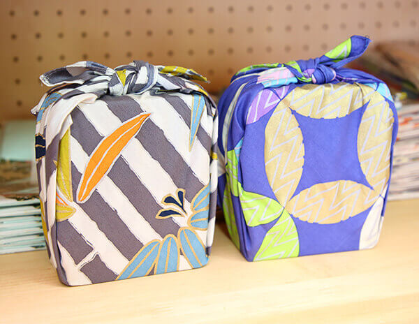 japanese design fabric boxes