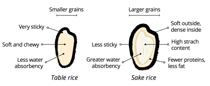 Table Rice vs Sake Rice