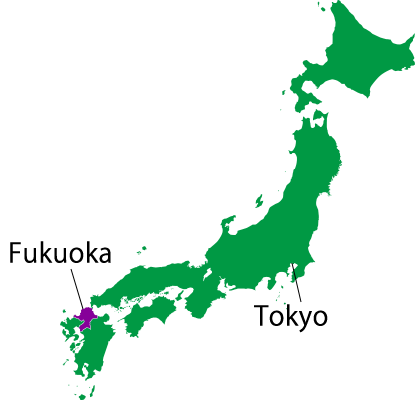 Japan-map-Fukuoka