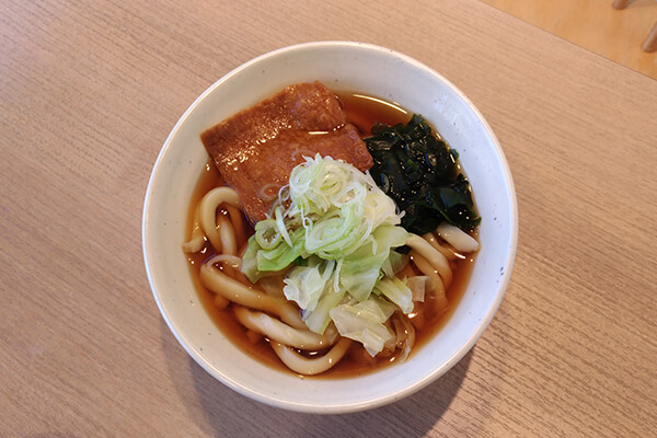 You can get a bowl of Yoshida udon here but the noodles tasted softer than the locals like it