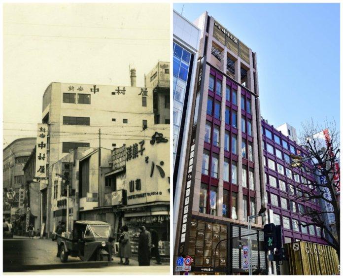 Shinjuku Nakamuraya then and now