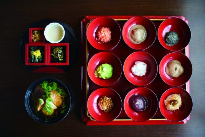 Mochi set meals of hiraizumi