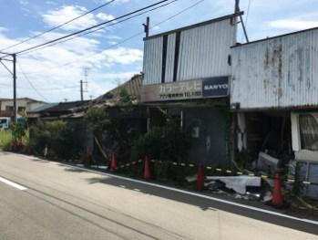 Abandon buildings near JR Namie Station 01