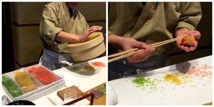 wagashi making