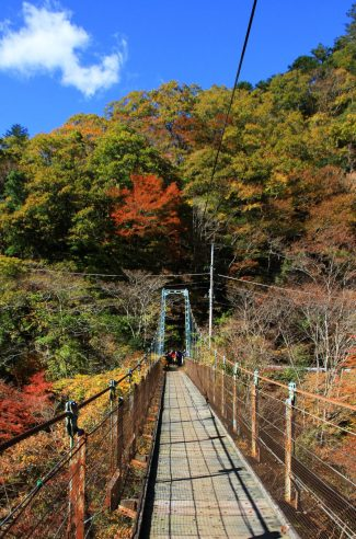 okutama suspension bridge