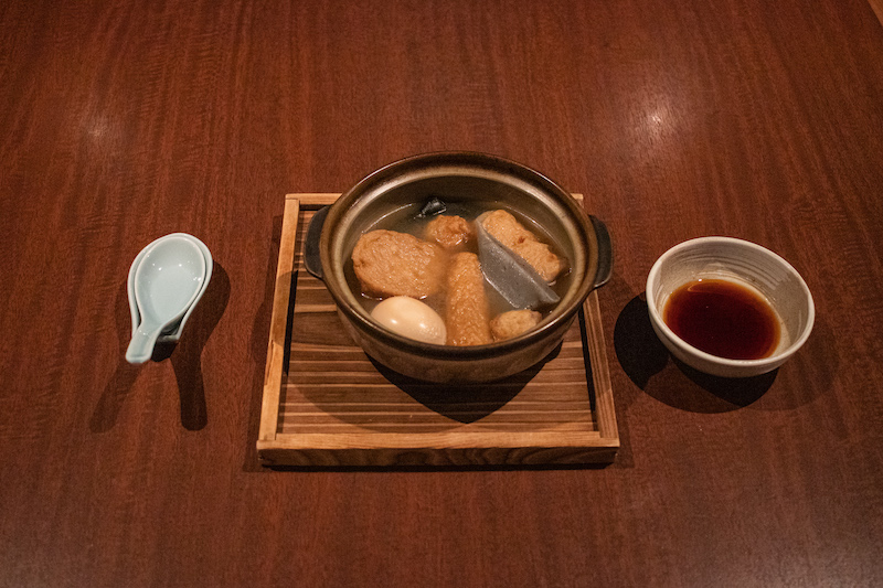 The famous Himeji Oden –one eaten with soy sauce with ginger.