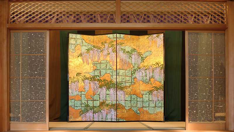 "four panels folding screen ""Mifuji"""