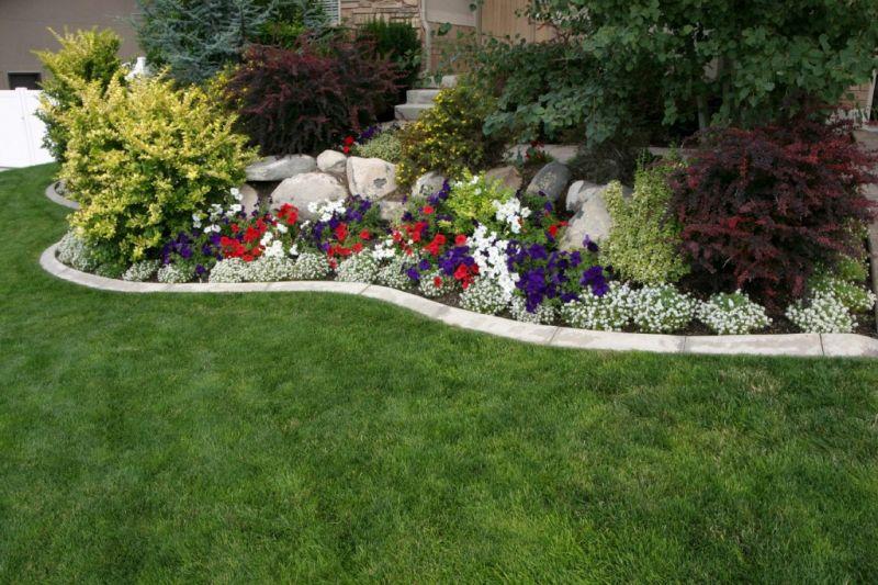 Genial Flower Bed Desigh Newly Planted