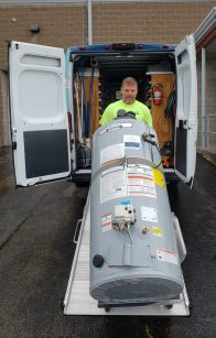 Same-day water heater replacement in Appleton, Green Bay, Oshkosh and throughout Northeast Wisconsin.