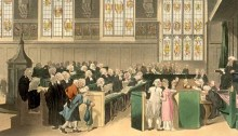 The Court of Chancery, London, early 19th century.