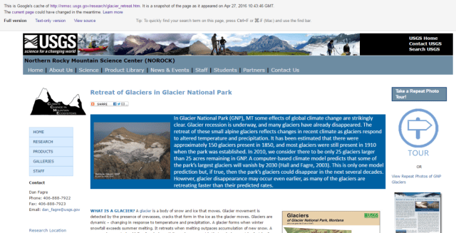 Updated: USGS appears to be removing its websites claiming