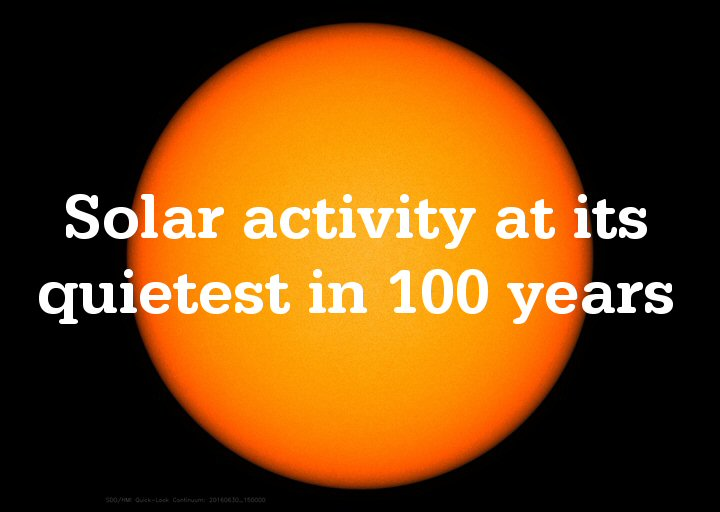 Solar physicist sees global cooling ahead   Watts Up With That?