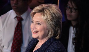 Former Secretary of State Hillary Clinton speaking at the Brown & Black Presidential Forum