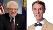 Bernie Sanders and Bill Nye