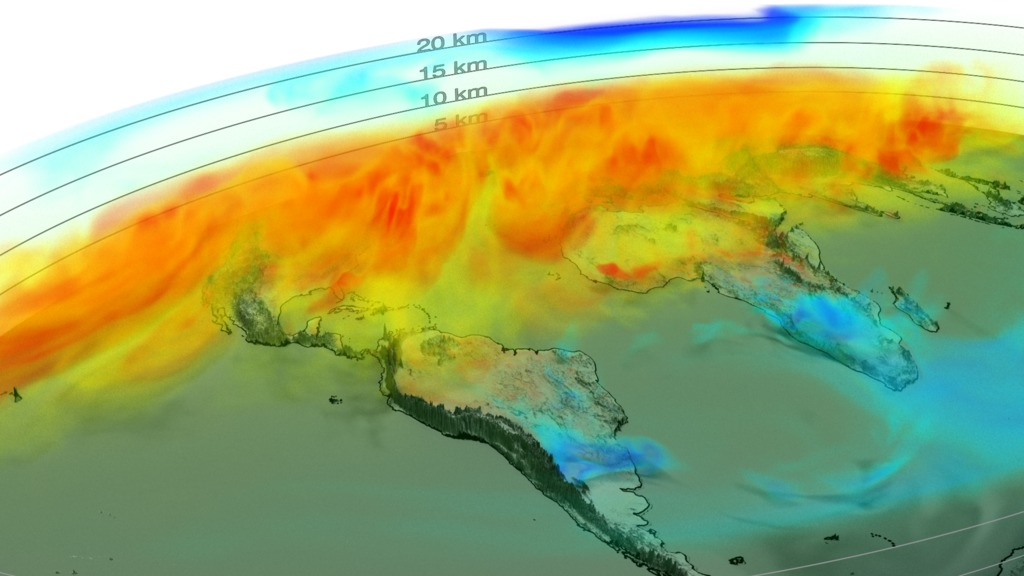 Surprising: NASA's Global visualization in 3D of Carbon