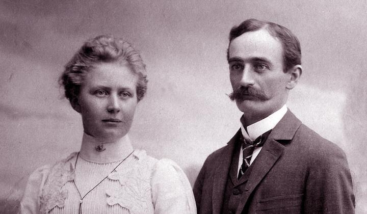 Elizabeth Christ and Frederick Trump, 1918.