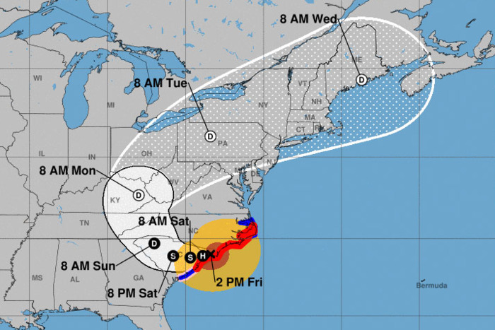 Hurricane Florence, Culmination of Exploitation of Natural