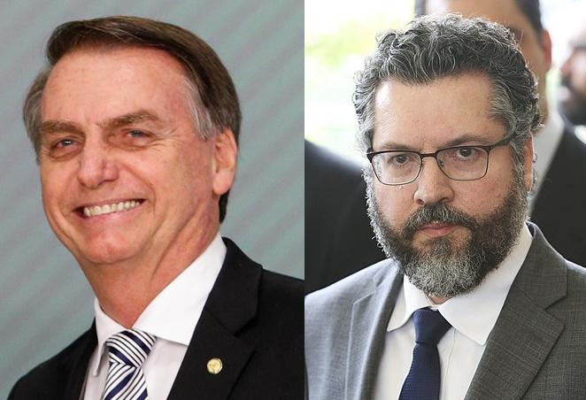 Brazilian President Jair Bolsonaro and Foreign MInister Ernesto Araújo