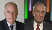Jerry Brown and Mike Bloomberg