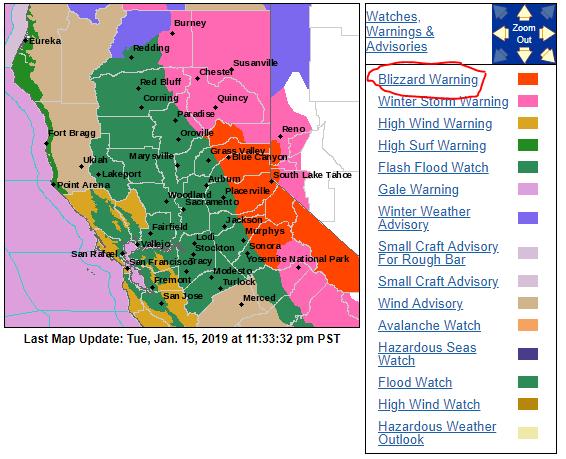 Rare blizzard warning issued for California – massive snow