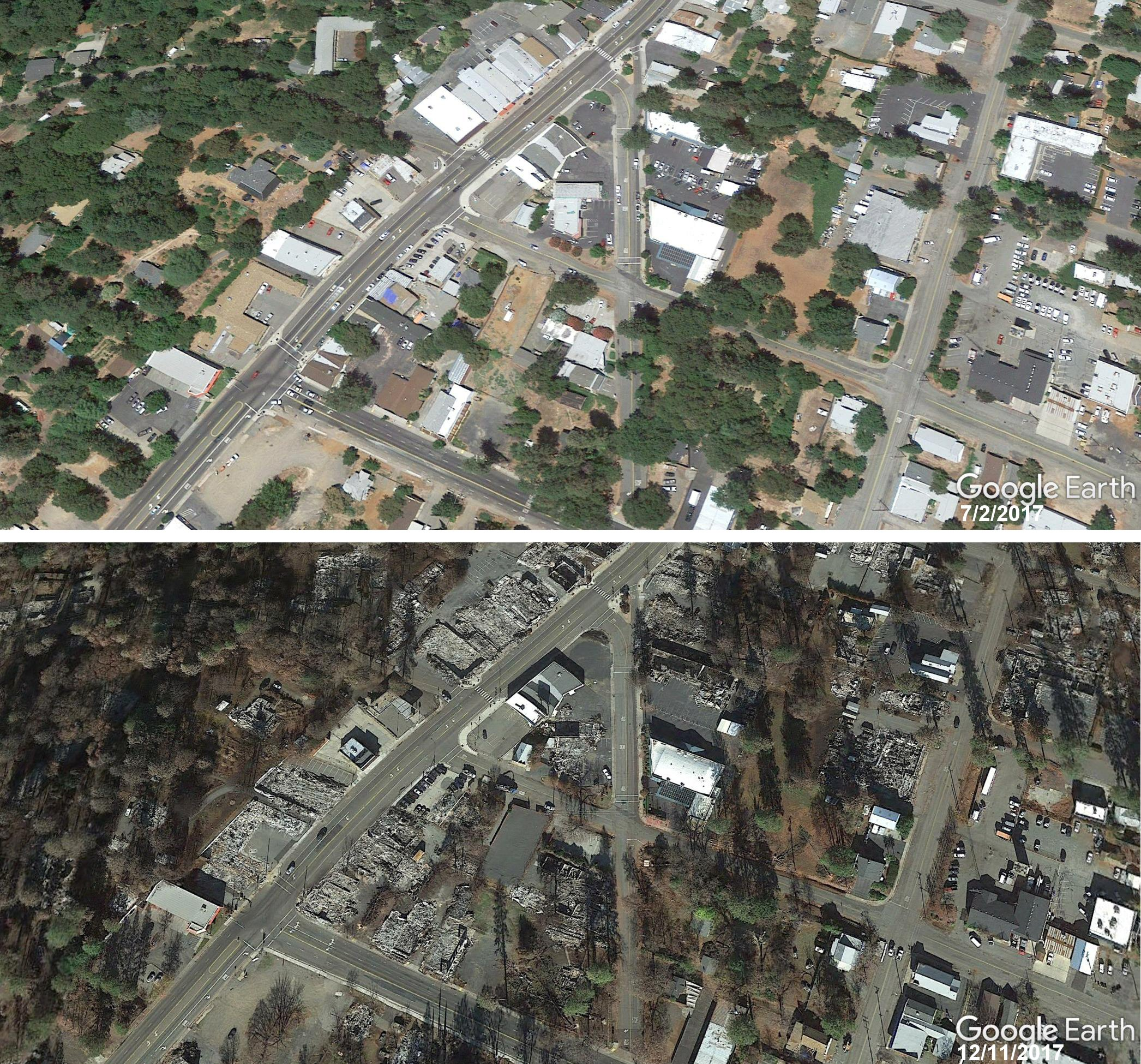 Google Earth updates Paradise imagery post #Campfire – the ... on