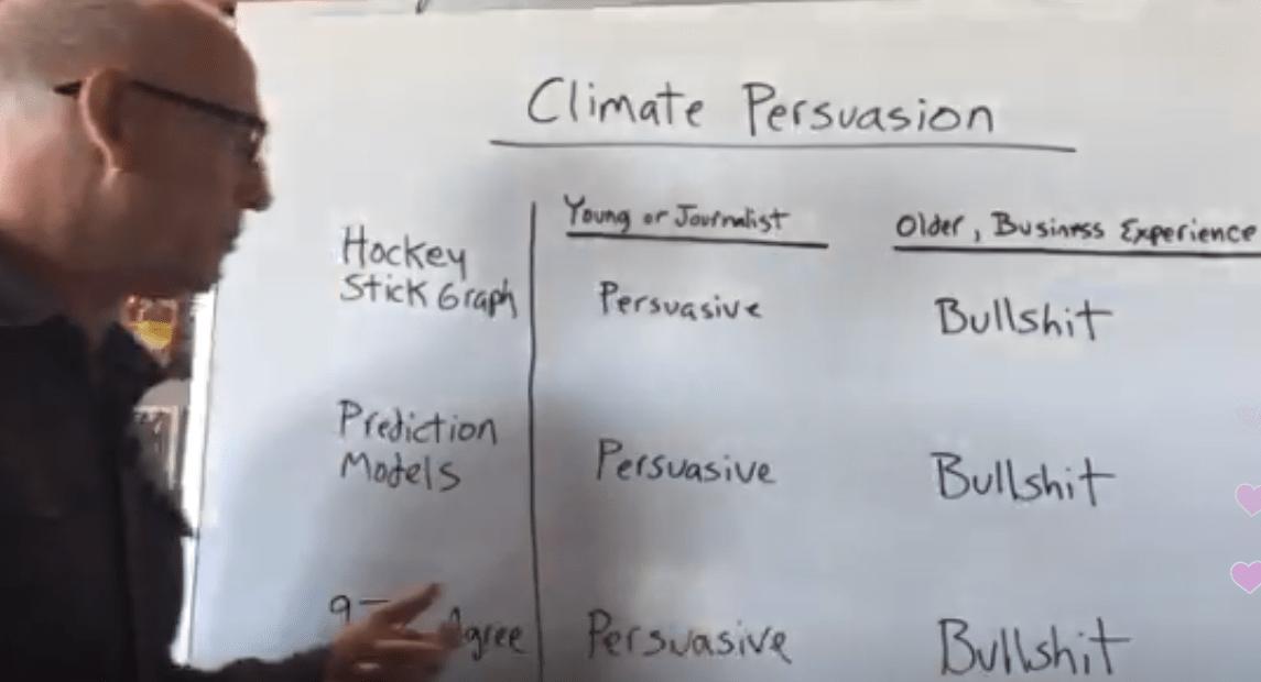 Scott Adams: 'The hockey stick is literally a symbol of