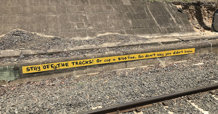 Stay off the tracks