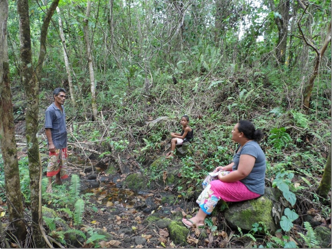 Dr Anita Latai-Niusulu interviewing a Samoan farmer. Credit: Dr Anita Latai-Niusulu