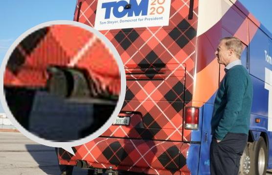 Tom Steyer Campaign Bus