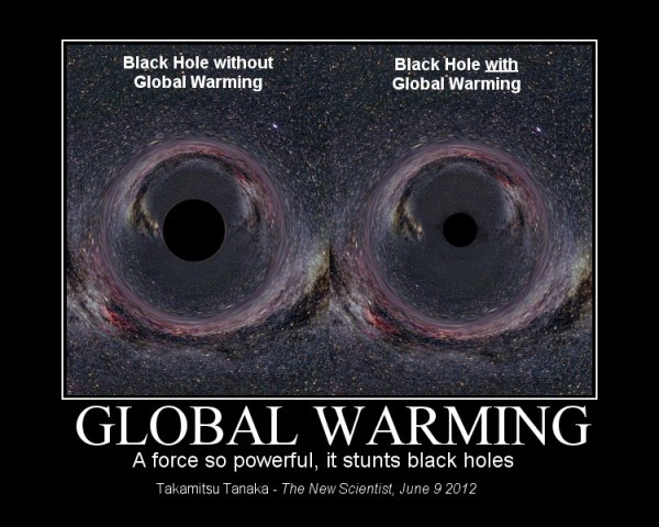 Quote of the Week: 'global warming stunts black holes ...