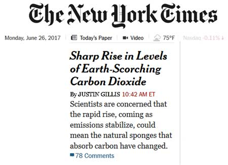NYT coins ridiculous meme: 'Earth-scorching CO2'