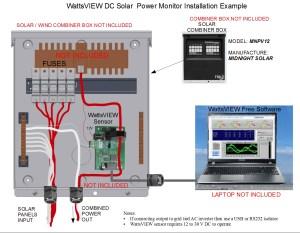 WattsVIEW solar power meter monitor, software data logger