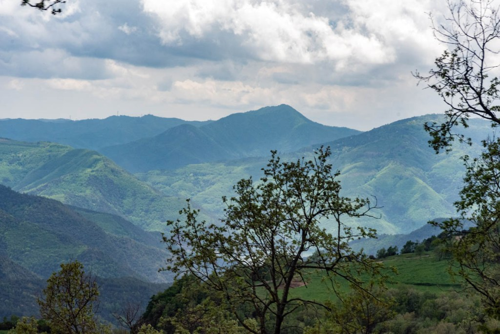 The mountains near Rupit are the beginning of the Pyrenees.