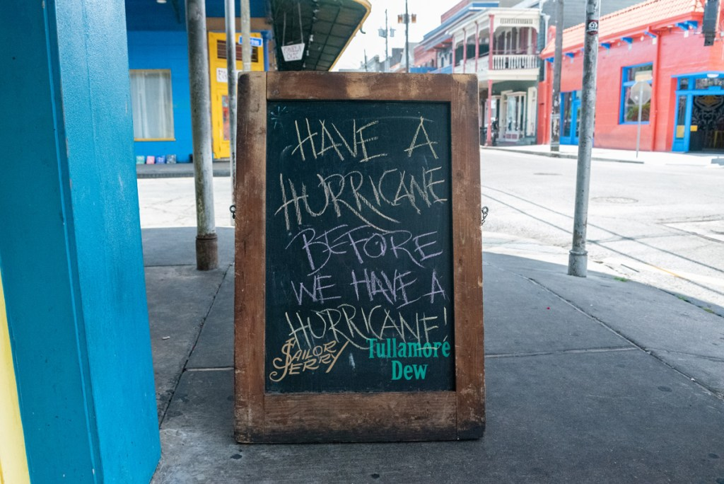 Dat Dog New Orleans serve a knock-out Hurricane in Hurricane Barry