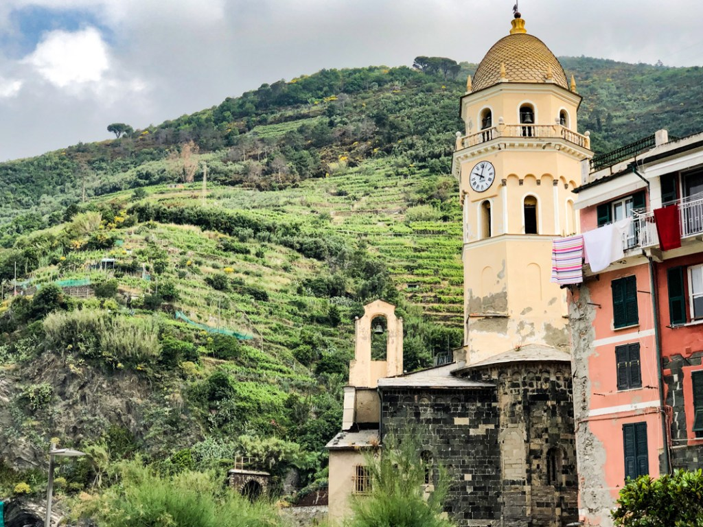 Visiting Cinque Terre the churches meet the vineyards