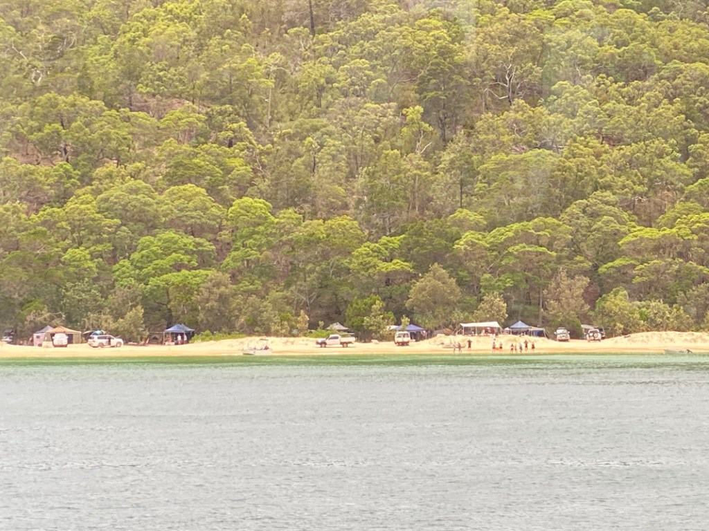 Why stop at day trips to Tangalooma when you can camp out for a week. The island is popular with family groups for its beautiful setting and many things to do.
