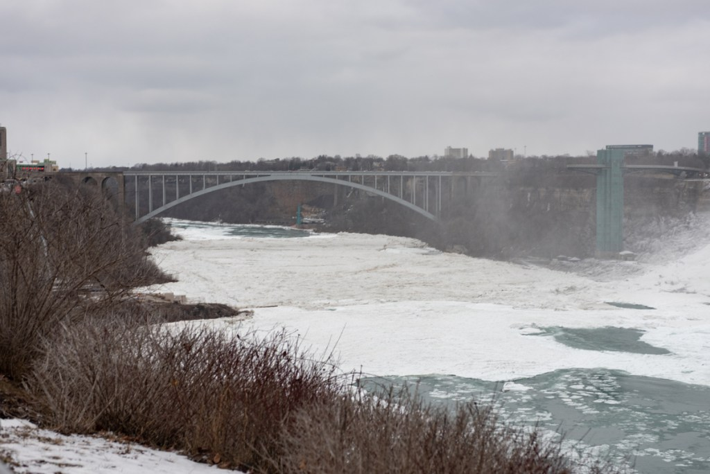 With the torrent from Horseshoe Falls, Niagara River never is completely frozen