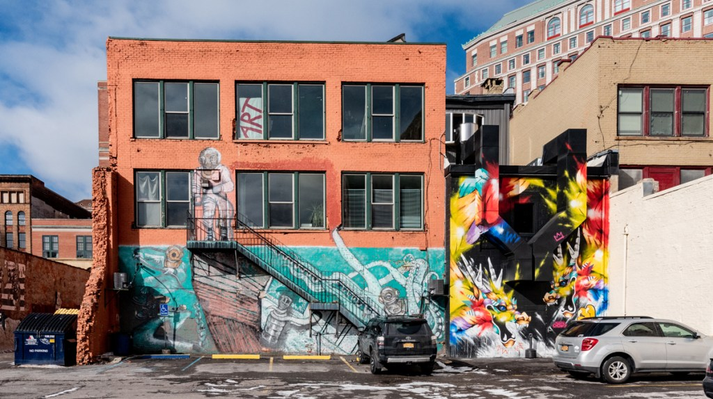 Buffalo, New York has a vibrant public art scene with cute street art everywhere