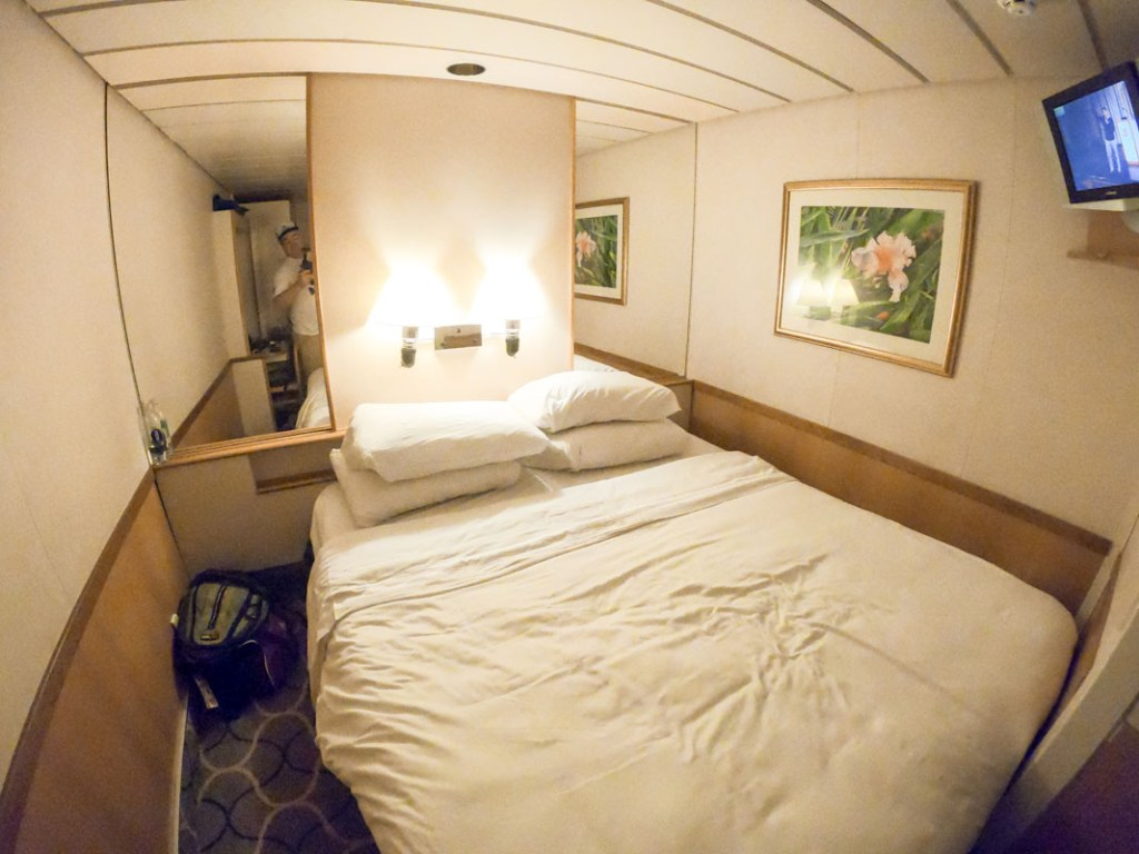 The interior stateroom on the Majesty of the Seas by Royal Caribbean