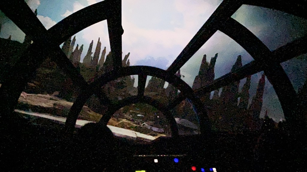 Star Wars Smugglers Run at Disneyworld looking out of the windscreen