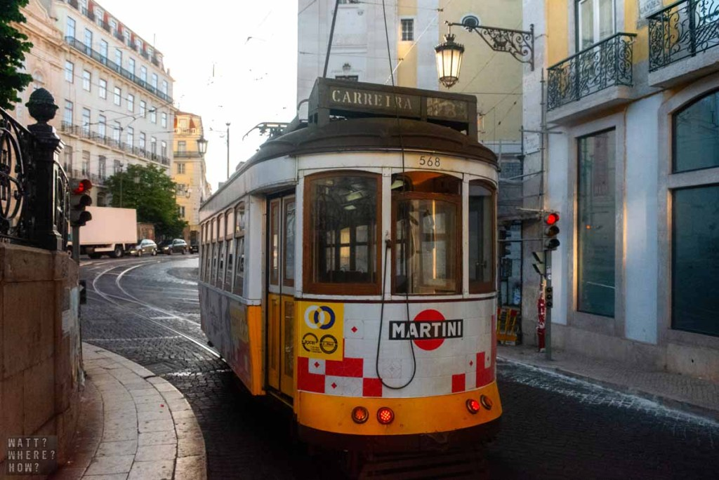 Even though it's super touristy, riding the 1930s E28 tram is a must-do on a Lisbon layover.