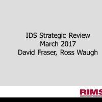 Road Infrastructure Management Support (RIMS) - IDS Strategic Review