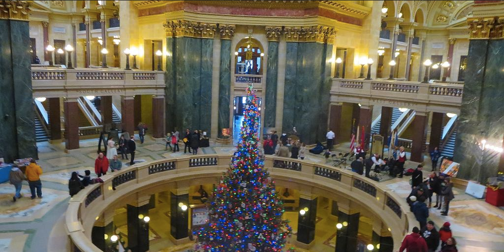 Evers: No holiday tree in state Capitol this year   Wausau Pilot