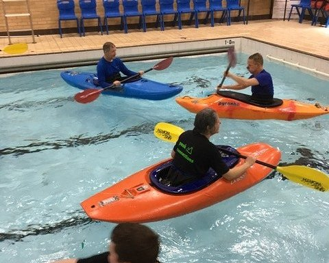 Great volunteer kayak training session